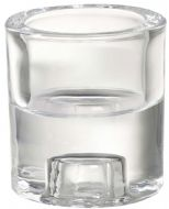 Bolsius Glass 2 In 1 Round Holder - Clear